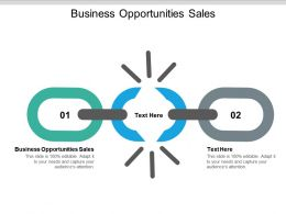 Business Opportunities Sales Ppt Powerpoint Presentation Layouts Outline Cpb