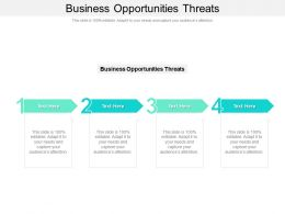 Business Opportunities Threats Ppt Powerpoint Presentation Infographic Template Cpb