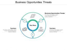 Business Opportunities Threats Ppt Powerpoint Presentation Portfolio Gridlines Cpb