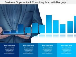 Business Opportunity And Consulting Man With Bar Graph