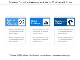 Business Opportunity Assessment Market Position With Icons