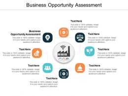 Business Opportunity Assessment Ppt Powerpoint Presentation Pictures Information Cpb