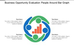 Business Opportunity Evaluation People Around Bar Graph