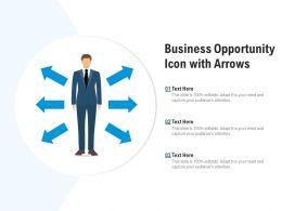 Business Opportunity Icon With Arrows