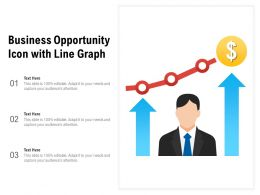 Business Opportunity Icon With Line Graph