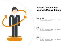 Business Opportunity Icon With Man And Arrow