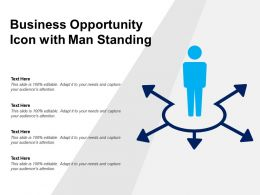 Business Opportunity Icon With Man Standing