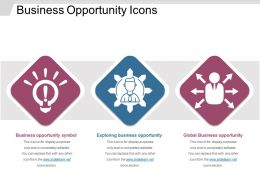 Business Opportunity Icons Sample Of Ppt