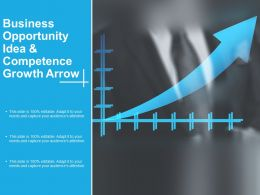 Business Opportunity Idea And Competence Growth Arrow
