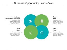 Business Opportunity Leads Sale Ppt Powerpoint Presentation Pictures Slides Cpb