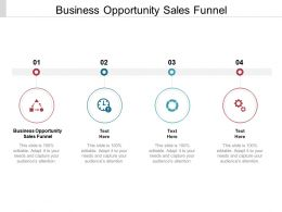 Business Opportunity Sales Funnel Ppt Powerpoint Presentation Slides Gallery Cpb