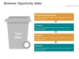 Business Opportunity Sales Ppt Powerpoint Presentation Outline Background Cpb
