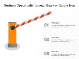 Business Opportunity Through Gateway Hurdle Icon
