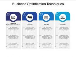 Business Optimization Techniques Ppt Powerpoint Presentation Outline Tips Cpb