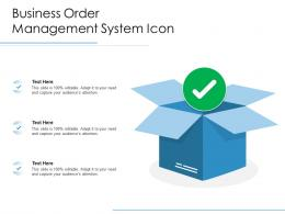 Business Order Management System Icon