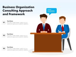 Business Organization Consulting Approach And Framework
