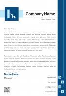 Business Organization Letterhead Design Template