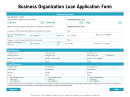 Business Organization Loan Application Form