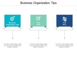 Business Organization Tips Ppt Powerpoint Presentation Portfolio Vector Cpb
