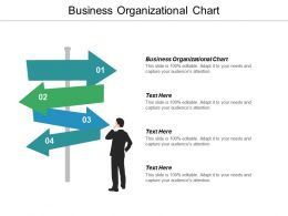 Business Organizational Chart Ppt Powerpoint Presentation Icon Model Cpb