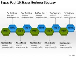 Business Organizational Chart Template Path 10 Stages Strategy Powerpoint Templates 0522