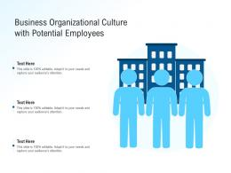 Business Organizational Culture With Potential Employees