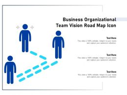 Business Organizational Team Vision Road Map Icon