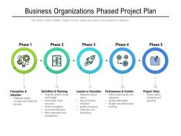 Business Organizations Phased Project Plan