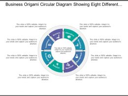 Business Origami Circular Diagram Showing Eight Different Process Category