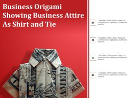 Business Origami Showing Business Attire As Shirt And Tie