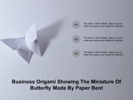 Business Origami Showing The Miniature Of Butterfly Made By Paper Bent