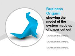 Business Origami Showing The Model Of The System Made Up Of Paper Cut Out