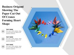 Business Origami Showing The Paper Cut Out Of Cranes Forming Heart Shape