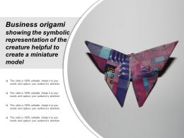 Business Origami Showing The Symbolic Representation Of The Creature Helpful To Create A Miniature Model
