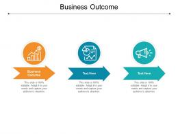 Business Outcome Ppt Powerpoint Presentation Inspiration Samples Cpb