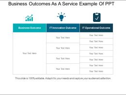 Business Outcomes As A Service Example Of Ppt