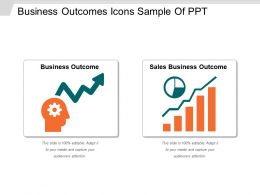 Business Outcomes Icons Sample Of Ppt