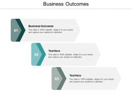 Business Outcomes Ppt Powerpoint Presentation Icon Maker Cpb