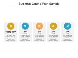 Business Outline Plan Sample Ppt Powerpoint Presentation Ideas Gridlines Cpb