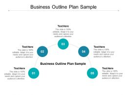 Business Outline Plan Sample Ppt Powerpoint Presentation Infographic Template Cpb