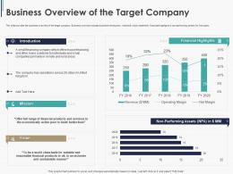 Business Overview Of The Target Company Pitchbook Ppt Download