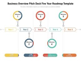 Business Overview Pitch Deck Five Year Roadmap Template