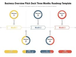 Business Overview Pitch Deck Three Months Roadmap Template