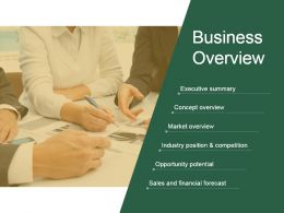 Business Overview Presentation Background Images