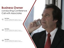 Business Owner Conducting Conference Call With Associates