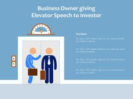 Business Owner Giving Elevator Speech To Investor