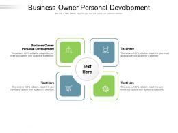 Business Owner Personal Development Ppt Powerpoint Presentation Pictures Background Cpb