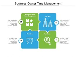 Business Owner Time Management Ppt Powerpoint Ideas Professional Cpb