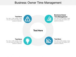 Business Owner Time Management Ppt Powerpoint Presentation File Portfolio Cpb