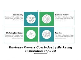 Business Owners Coal Industry Marketing Distribution Top List Cpb